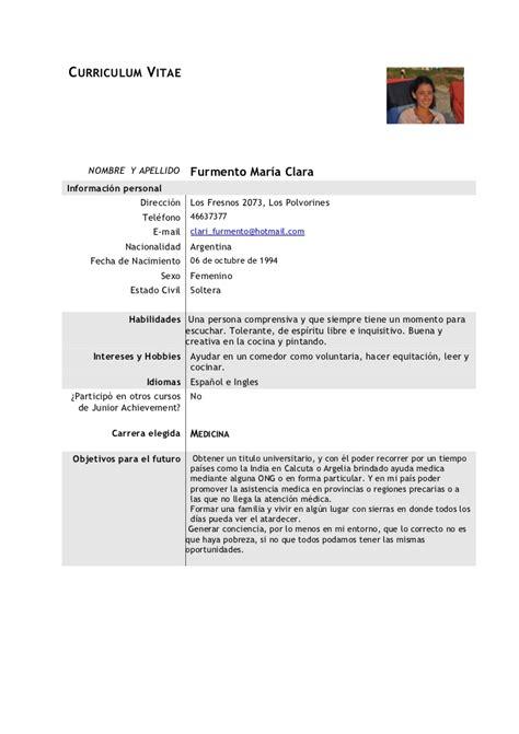 Modelo Curriculum Vitae De Medico Modelo Cv