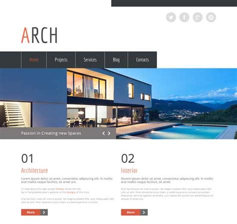 templates for architecture website 70 best architecture construction website templates 2018