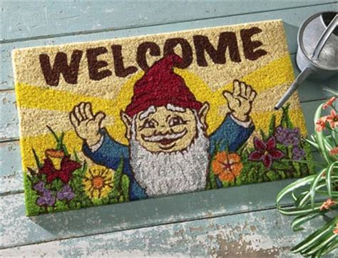 Gnome Welcome Mat collections etc find unique gifts at