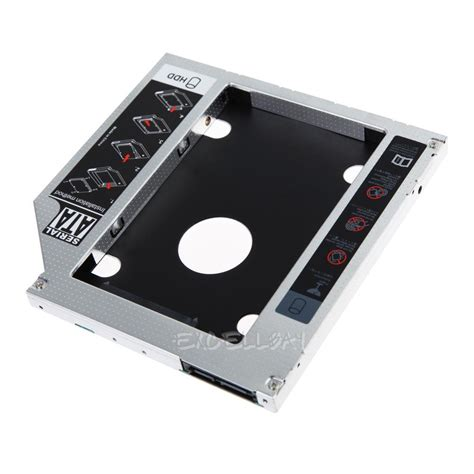 Hdd Caddy 2nd Hdd Caddy Universal 127mm Kode Ss3265 9 5mm universal 2nd sata hdd ssd caddy bay drive adapter for apple macbook ebay
