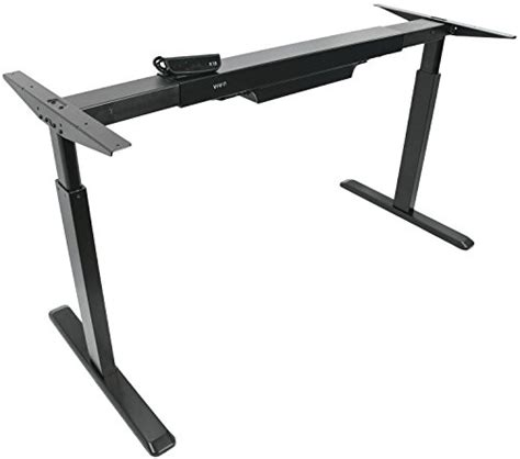 vivo black electric stand up desk frame vivo electric stand up desk frame only solid steel w
