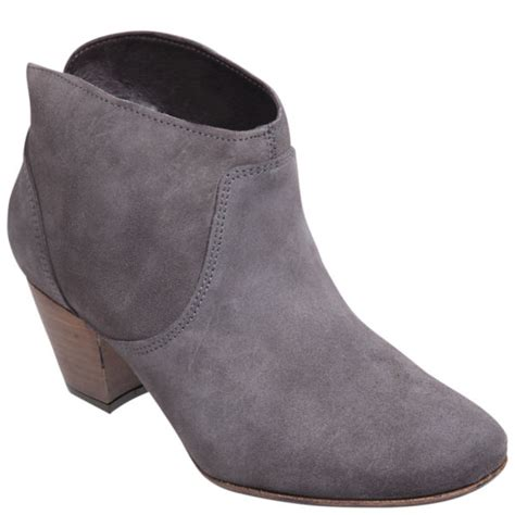 womans grey boots hudson s mirar suede heeled ankle boots