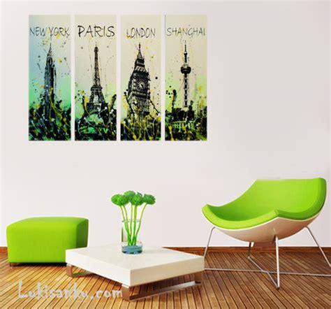 Lukisan Minimalis Kode 4 City Style Lukisanku lukisan klasik toko lukisan jual lukisan
