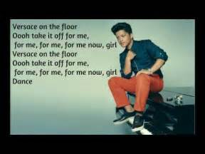 bruno mars versace on the floor lyrics official