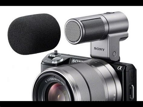 sony ecm sst1 external stereo microphone and internal