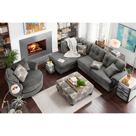 french living room with two piece chaise lounge french cordelle 2 piece left facing chaise sectional gray