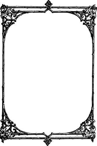 Bingkai persegi panjang | Domain publik vektor