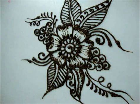 simple henna design drawing tutorials on how to draw flower designs for beginners