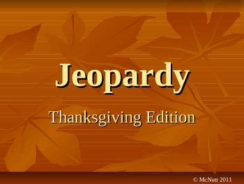 thanksgiving jeopardy  katie mcnutt teachers pay teachers