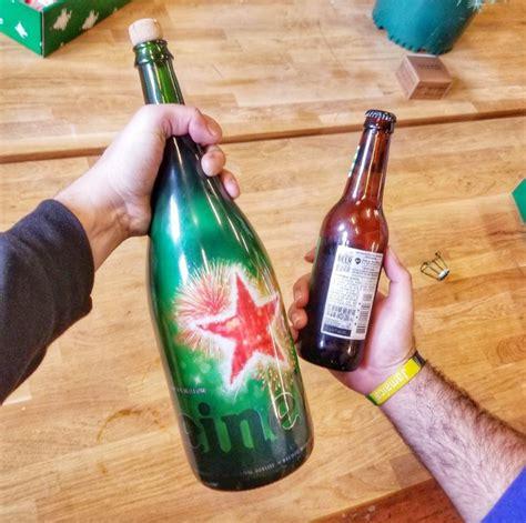 heineken christmas bottle heineken introduces magnum bottle that s bigger than a 40 ounce
