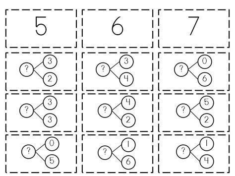 Number Bonds Worksheets by Number Bonds Kindergarten Worksheets Search Results