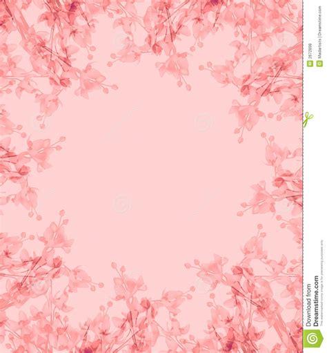 Amoree Dusty Pink light pink flowers photo frame stock illustration