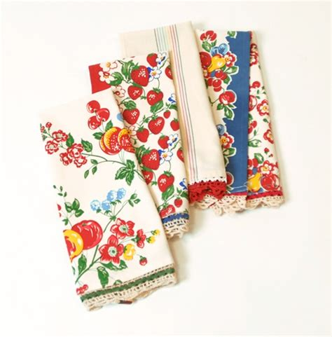 Retro Kitchen Towels by Vintage Dish Towels Make Me Happy For The Home