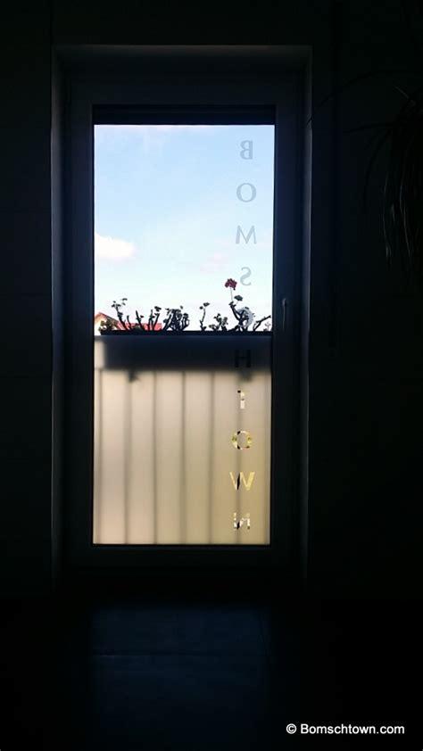 sichtschutzfolie badfenster g 228 stebad rostfarben haupt bad in betonoptik hausbau in