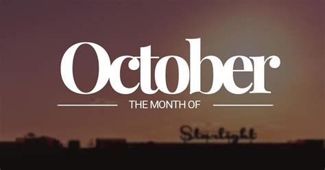 October ? tenth month of the year