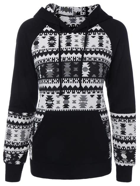 Raglan Skellington 09 front pocket raglan sleeve pullover hoodie in white and