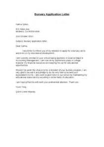 bursary application letter hashdoc