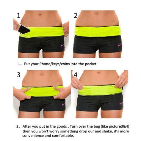 Pocket Smart Belt Running Sport Elastic Belt Tas Lari Sepeda Digital 2016 new design elastic waist running belt for iphone 6