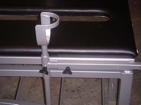 table with stirrups adjustable table with stirrups http metalbound com