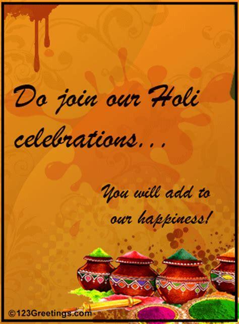 Holi Celebrations Invite  Free Invitations eCards