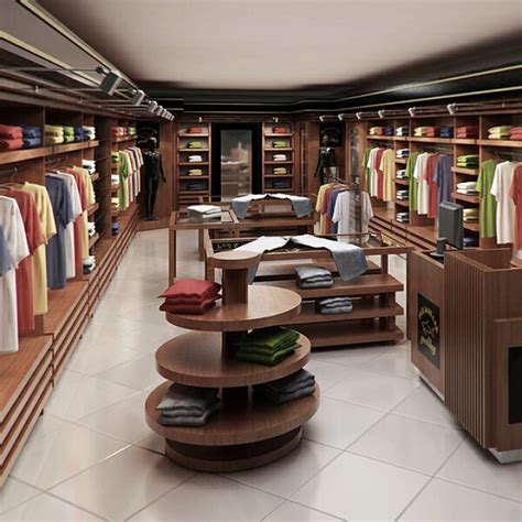 clothing store interior render ready architecture