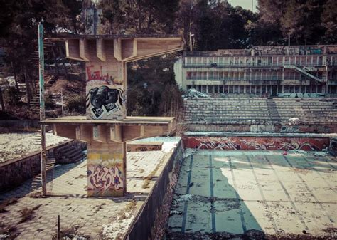 forgotten places barcelona and the eerie graffiti covered abandoned swimming pools of barcelona