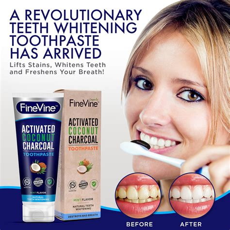 natural charcoal teeth whitening toothpaste charcoal
