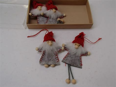 swedish christmas decorations to make scandinavian swedish 4 santa gnome ornaments 902 ebay