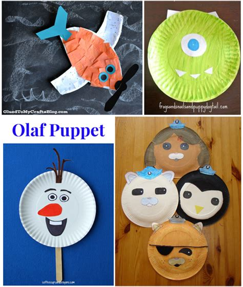 Disney Paper Crafts - 15 kid characters from paper plates i arts n crafts