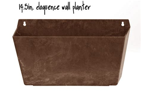 Wall Planter Boxes by 14 5in Eloquence Wall Planter 2 Colors Self Watering
