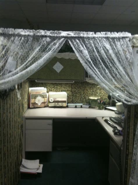 curtains for office cubicles my cowboy s wife extreme work cubicle makeover