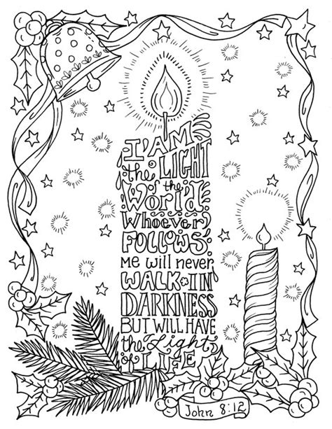 christmas coloring pages for adults christian bible christmas candle coloring page christian scripture color book