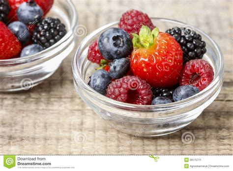 Fruit Salad Small fruit salad in small transparent bowls stock photo image 39175711