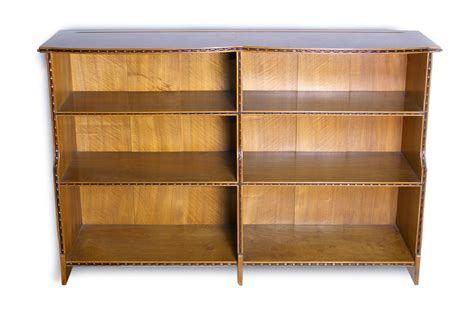walnut bookcase by waals ernest gimson and the arts