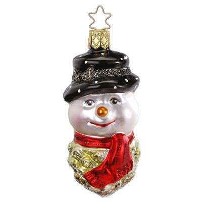 snowcone christmas ornament inge glas of germany 102612