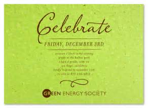 green corporate event invitations antique script by green business print