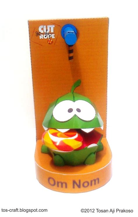 Cut The Rope Papercraft - tos craft om nom cut the rope papercraft