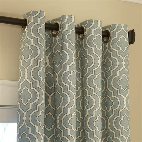 cascade drapery blinds com easy drapery panels grommet top in donetta