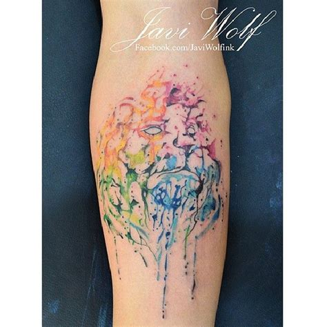 perfect water colour tattoo java wolf ink tattoo ideas