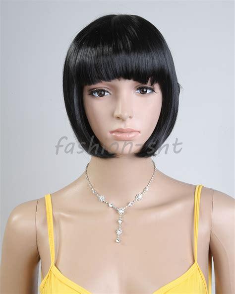 short spikey hairpice short straight wig women natural black straight hair wig