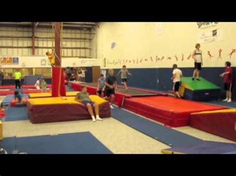 Gymnastics Layout Gainer   gymnastics backflips front flips gainers and wall flips