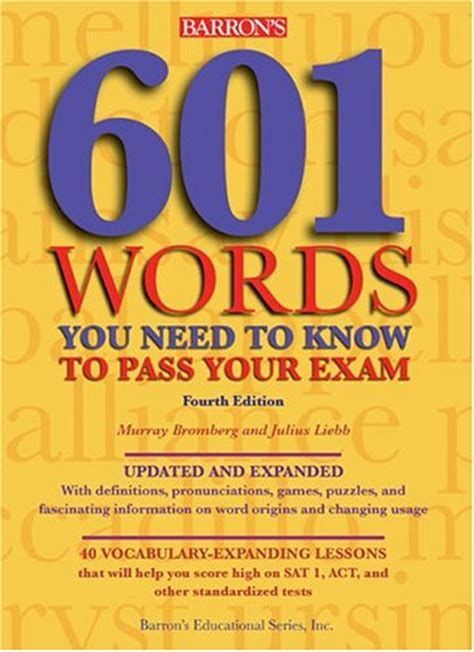 Barron S 1100 Words You Need To education is our barrons 601 words you need to e book free