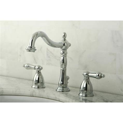 bathroom faucet handles shop kingston brass georgian chrome 2 handle widespread bathroom sink faucet at lowes