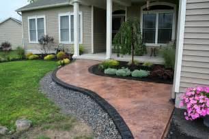 Outdoor Concrete Paint For Patio Stamped Concrete Walkway Orange Amp Black Nucrete