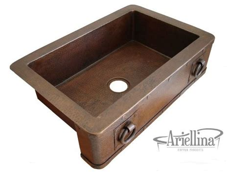 where to buy farmhouse sinks ariellina farmhouse 14 copper kitchen sink lifetime