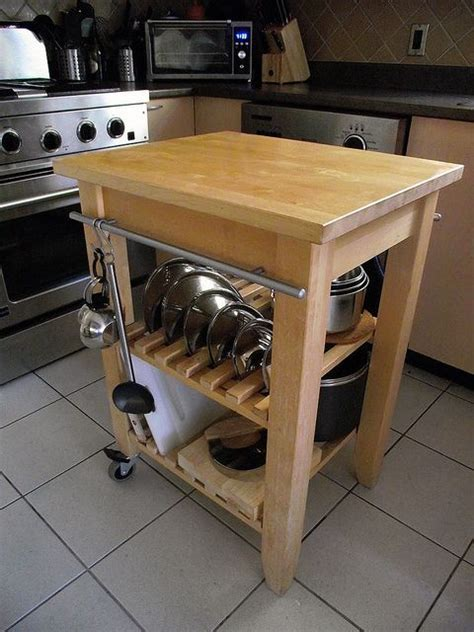 ikea bekvam cart cookware storage with clever use of