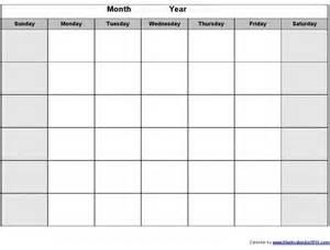 Blank Calender Template blank calendar printouts calendar printable 2017