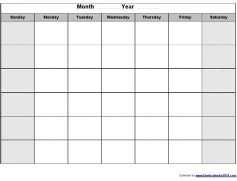 blank calendar printouts calendar printable 2017