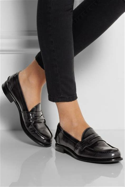 church s loafers church s sally polished leather loafers in gray lyst