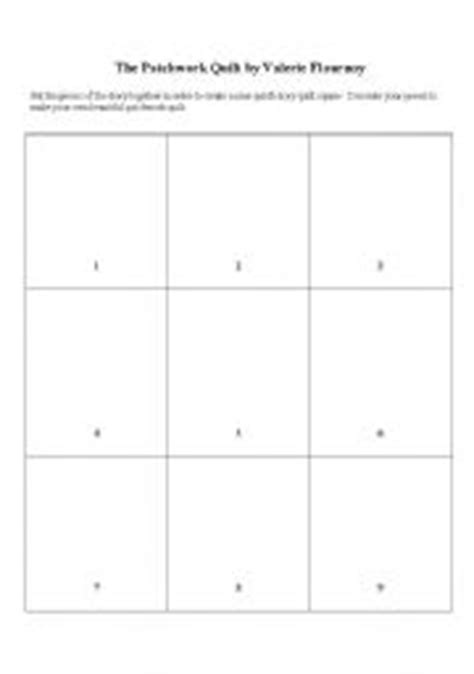 The Patchwork Quilt Lesson Plans - worksheets the patchwork quilt sequencing